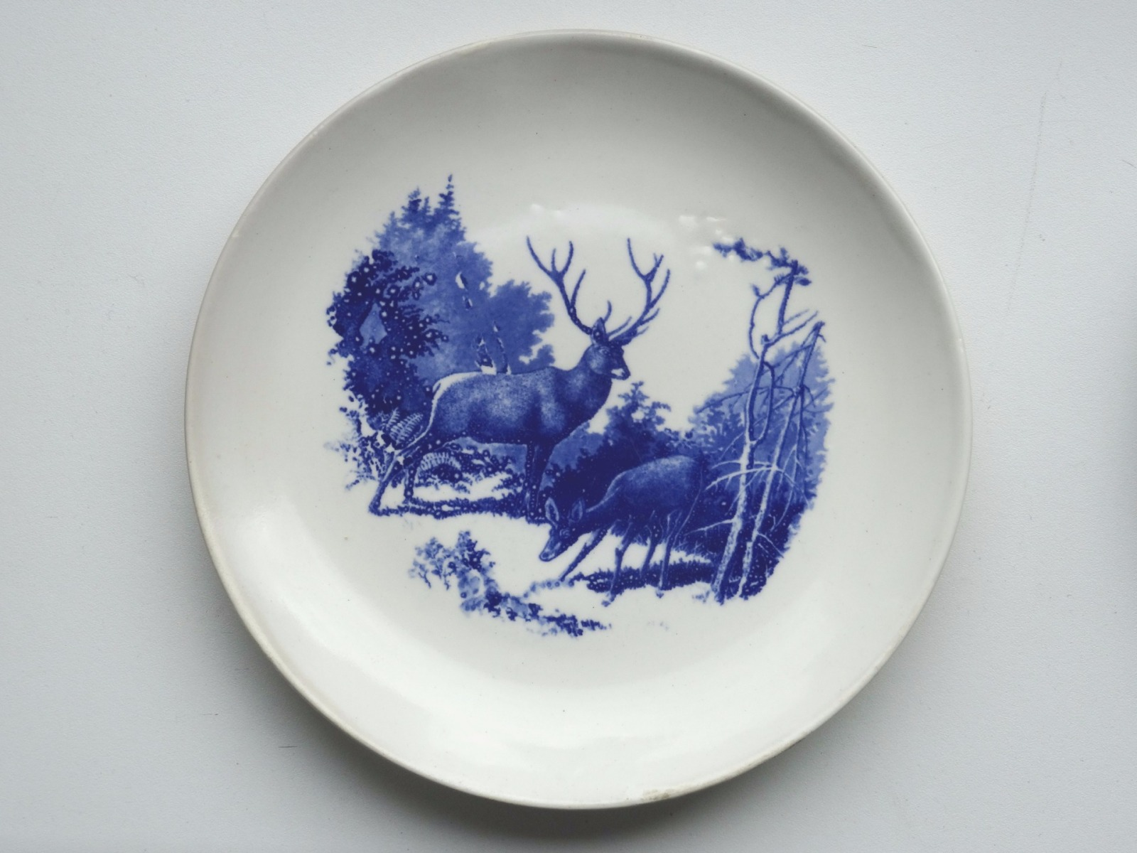 Item #568 - RPF - Plate with deer - Auction 53 - Classic art