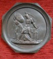 Medallion - Battle of Krasnoi 1812. Model author Fedor Petrovich Tolstoy (1783-1873), copper, 18.5x1