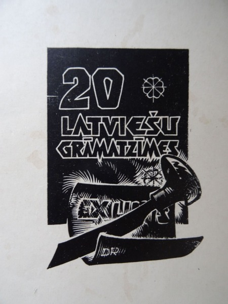 20 Latvian grammars. Signed by K. Sūniņa and A. Apiņš bookmarks authors, - R.:Latvian State Publishi