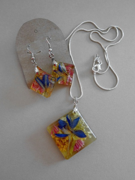 Earrings and pendant. Author's work. Silver, 925 purity