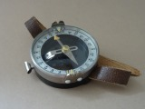 Compass with sports leather strap 1950s