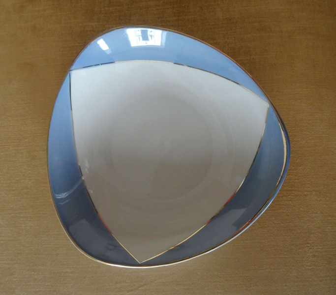 PFF Riga - Bowl with a light blue border, porcelain