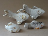 RPF - 4 set of fish. Porcelain
