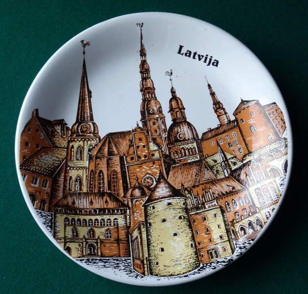 "RPR - Decorative wall plate ""Latvia"""