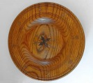 Decorative wall plate. Author - A.S. Riga, Latvia, wood, copper, mid-20th century, diam. 29 cm