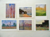 Double postcards 6 pcs. Kloda Mone reproductions from Boston Museum
