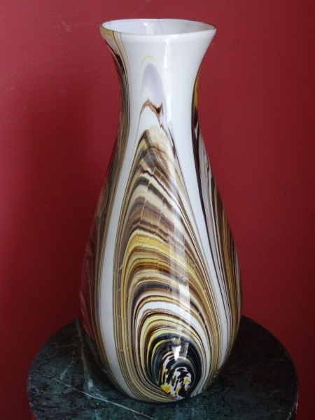 Latvian glass - glass vase. 20th century II half, h 30 cm