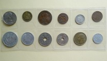 Coin set of 12 pieces.