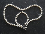 Pearl set. Necklace and bracelet