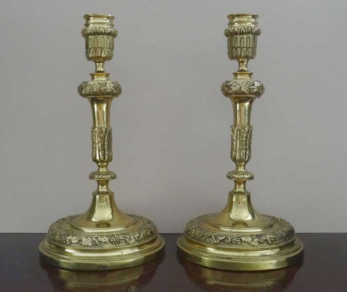 Candlesticks 2 pcs., bronze, h 25 cm