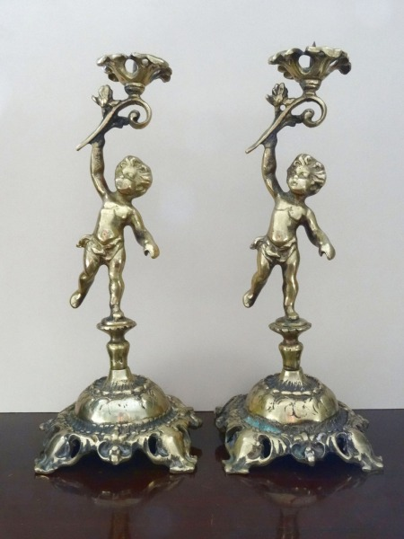 Candlesticks 2 pcs., bronze, h 28 cm