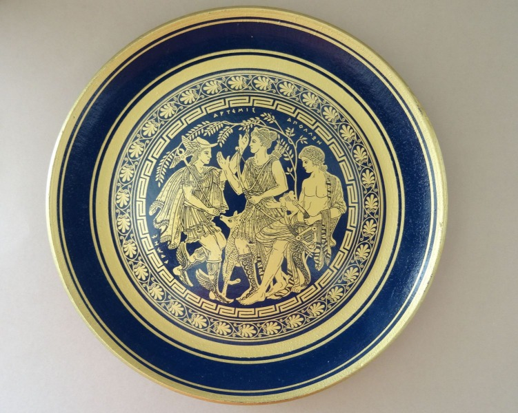 Greek plate, ceramics, Ø 23 cm