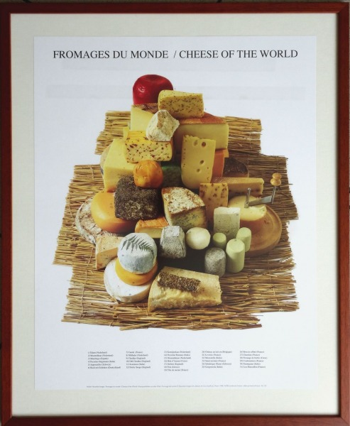 Poster - World Cheeses. 50x40 cm