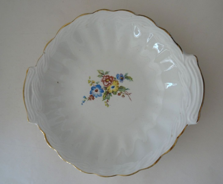 RPF - Serving plate with flowers, 1955, Ø 28 cm