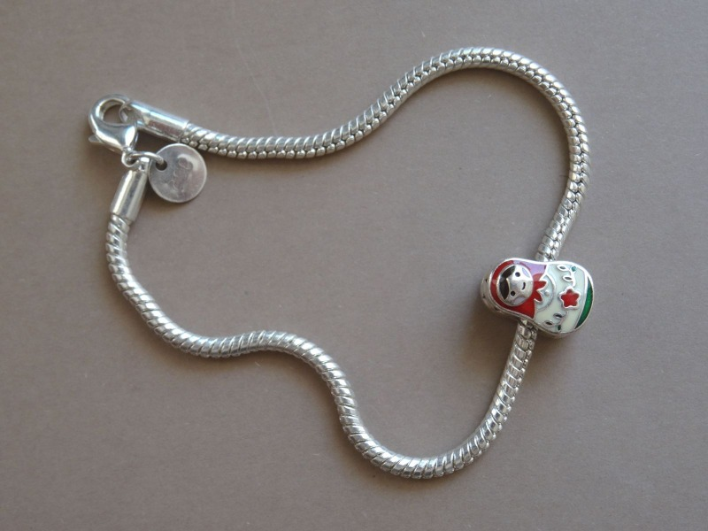 Silver bracelet with matrjošku, 10.50 g.