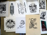 Ex Libris I. 10.pcs. different authors, some signed