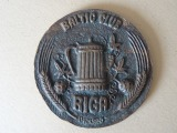 Table medal - Baltic club. Riga. 1990. Bronze, d 10 cm