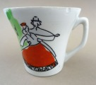 "RPFF - The Cup ""Dance"". Porcelain, with defect"