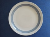 Plate with a blue edge. Porcelain, Bavaria, d 27 cm