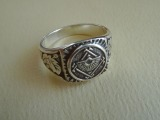 Silver ring. Purity 925, weight 7.73 g.