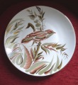 Decorative plate with bird
