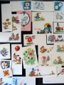 Cards and postcards 28 pcs. Various authors (K. Birze, S. Dislere, M. Staraste, I. Lapins, L. Bulatn