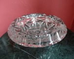 Crystal ashtray diam. 15.5 cm