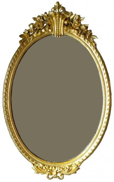 The mirror. 19th century middle. Gold plated frame, 125x80 cm