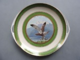 Kuznetsov - Plate with an eagle. Porcelain, 26,5x28,5cm