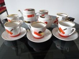 Borislav Porcelain Factory - Set for 6 people, 1964-1974s porcelain