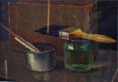Still life with a brush