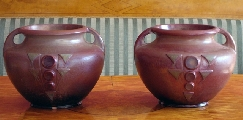 Vases with ornaments - pair