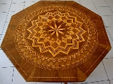 Octagonal table, Italian, Rolo
