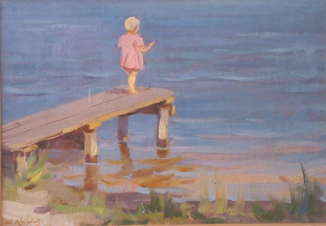The girl on the boardwalk