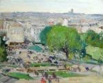 Montmartre view from Sacre-Coeur bazil. Paris