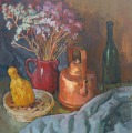 Still life with a copper kettle