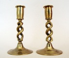 Candlesticks 2 pcs., bronze, h 14 cm