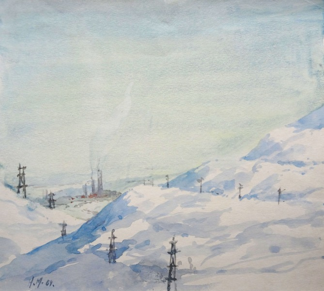 Landscape in the winter