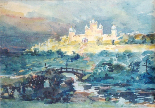 Landscape with fortress