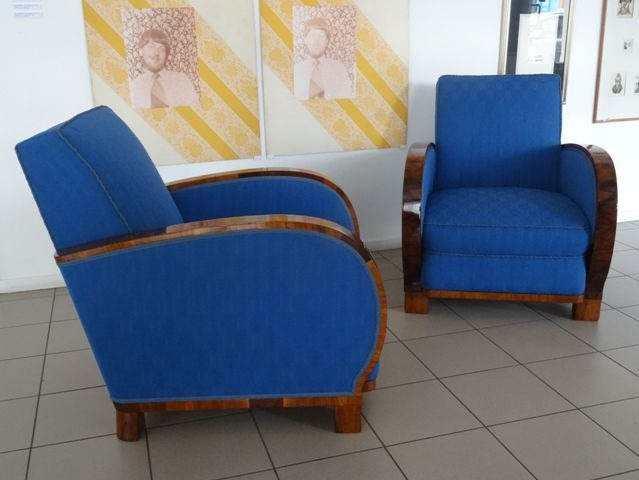Armchairs pair and sofa