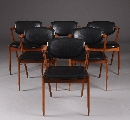 Kai Kristiansen (1929) Six chairs, model 42