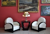Club chairs - France 20th century 20-30 years - couple