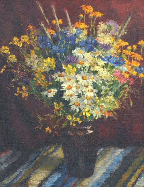 Still life with meadow flowers