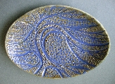 Oval bowl with tree motif
