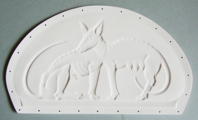 Rome wolfs - negative relief