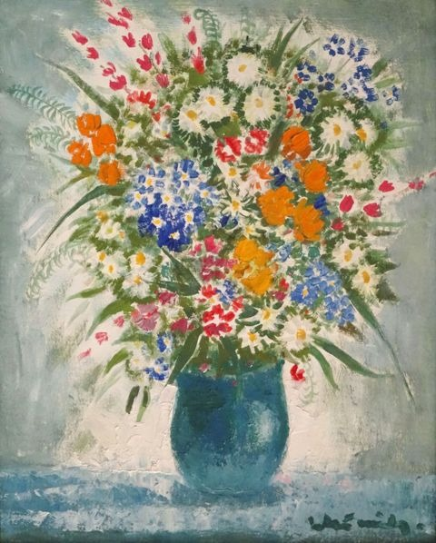 Vase with field flowers