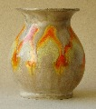 Vase with orange mottling