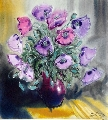 Violet poppies