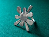 Silver ring - flower