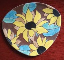 Daiļrade. Plate with sunflowers